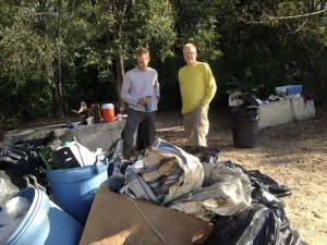 Chris And and Trash Pile